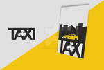 Taxi logo and poster by hadravadesign