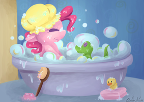 Pinkie Bath by CutePencilCase