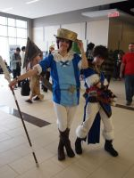 Ottawa ComicCon 2013 Lon'qu and Donnel cosplay by roseannepage