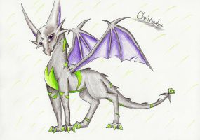 Christopher the poison dragon by IcelectricSpyro
