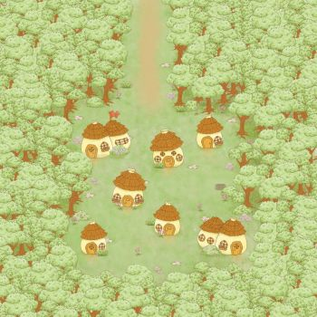 First Town by Rainbow-Grenade