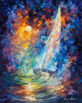 Stormy Sunset by Leonid Afremov by Leonidafremov