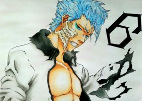 Grimmjow Jeagerjaques - Espada No. 6 by AjkaSketch