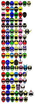 Legendary Power Ranger Helmet Icons by chaz1179