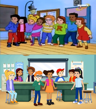 The Magic School Bus 1994 and 2017 Kids by dlee1293847
