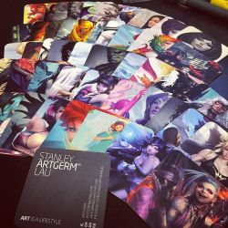 My new name cards. by Artgerm