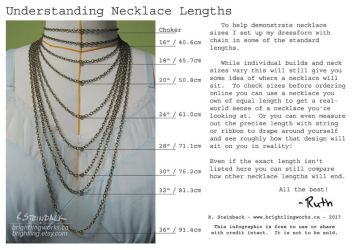 Understanding Necklace Lengths - Infographic by brightling