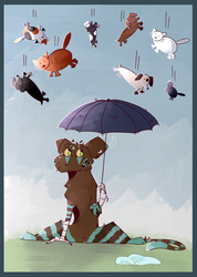 It's raining cats and dogs by EquinoxeMelba