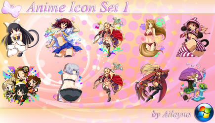 Anime Icon Set - 1 by Ailayna