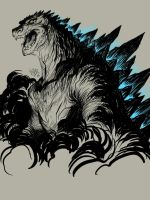 Godzilla sketch of the day by EJ-Su