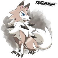 Lycanroc Midday Form by SaintedKnight