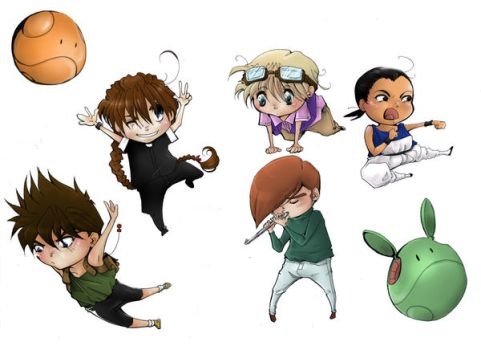 GW Cell Phone Dangly Chibis:ic by LinkWorshiper