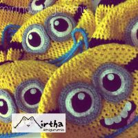 minions hat by Mirtha Amigurumis by MirthaAmigurumis