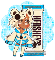 Hershey Kuma: Cookie N Cream by Vocaloid-Mirai