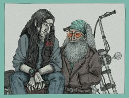 Schnumbledore bikers by LeLazard