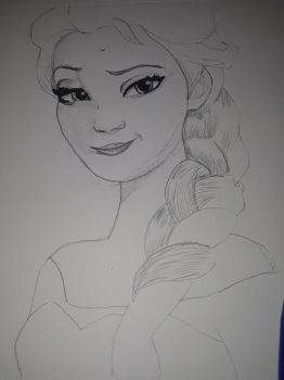 Work in progress drawing of Elsa by MichaelJ83