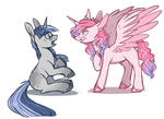 Unicorn and Alicorn doodle [Cash Offer to Adopt] by sararini
