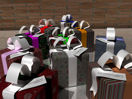 3D gift boxes by jaruworks