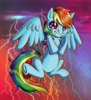 Confident Rainbow Dash by kcday