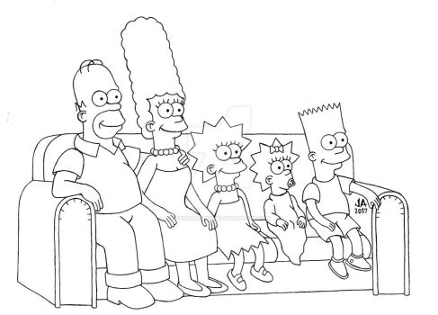 The Simpsons Pen and Ink by JesseAllshouse