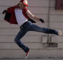 Terry Bogard Fierce Attack Cosplay by IronCobraAM