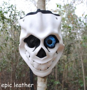 Bad Time Sans Leather Mask by Epic-Leather