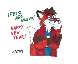 Happy New Year 2017 by AnthoFur