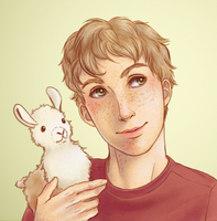 A Boy and His Llama by trowicia