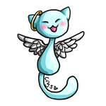 Angelic Blob Kitty by Crysums