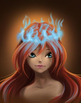 Bloom with fire crown by fantazyme