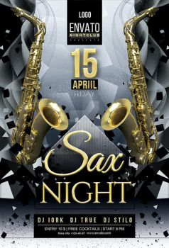 Sax Night Flyer by iorkdesign