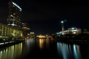 Night city scape tampa stock by ebstock