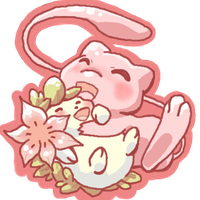 Mew and Shaymin by AudGreen