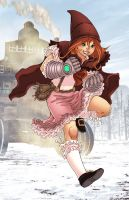 Steampunk Red Riding Hood by RodEspinosa