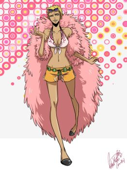 Fem-Doflamingo by LotusMartus