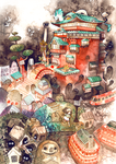 Tribute to Ghibli (process + details) by Foyaland