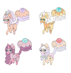 Cake tail pony adopts! 5 Points~ by this-is-reallystupid