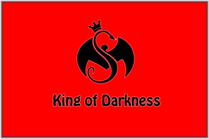 King of Darkness Wallpaper Black on Red by 2barquack