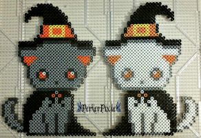 Kitty Witches by PerlerPixie