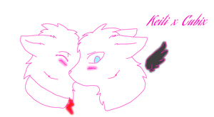 Keiti x Cubix animal thingy by BeelzemonFangirl
