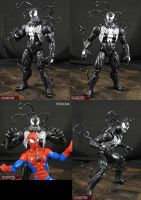 Custom Venom Marvel Legends Infinite Figure by Jin-Saotome