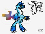 Chromo Virus Mascot (Probably going to sell) by DragonMiner101