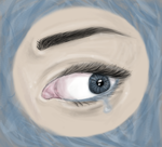 First eye to be drawn on my tablet. ~ by Milkimu