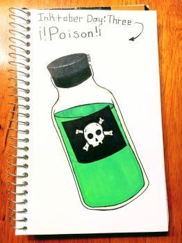 Inktober [Day 3: Poison]  by TheOrangeDaisy