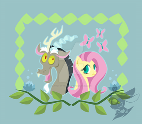 Fluttershy and Discord by Sakura5Kagure