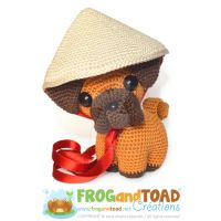 Chien Zodiaque Zodiac Dog plain Amigurumi Pattern  by FROG-and-TOAD