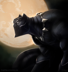 Black Panther by frogbillgo