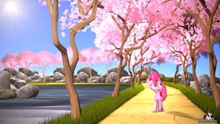 Pink as the blossoms by TheWhitePone