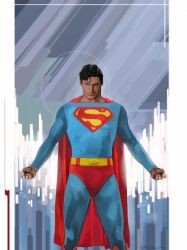 Superman prepares to take flight by strib