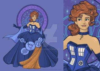 Gallifreyan Girl by khallion
